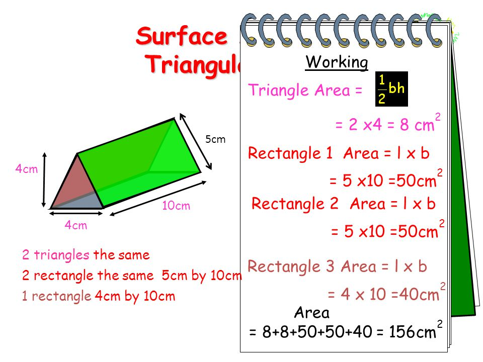 Surface Areaof a Triangular Prism