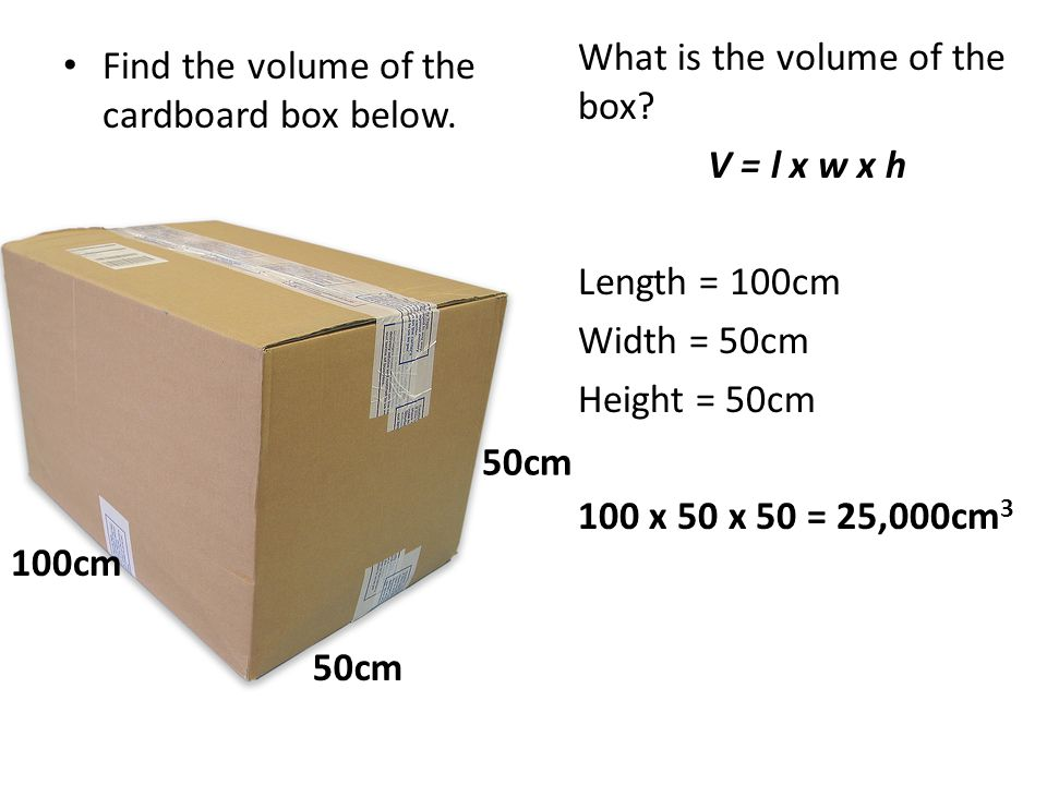 What is the volume of the box