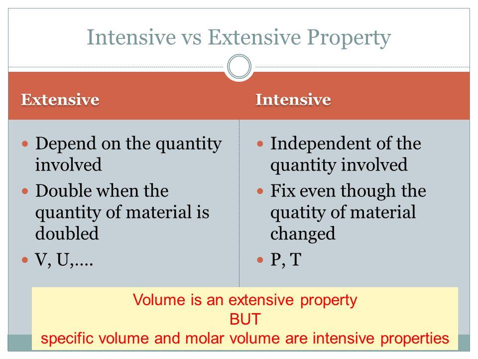 Intensive vs Extensive Property