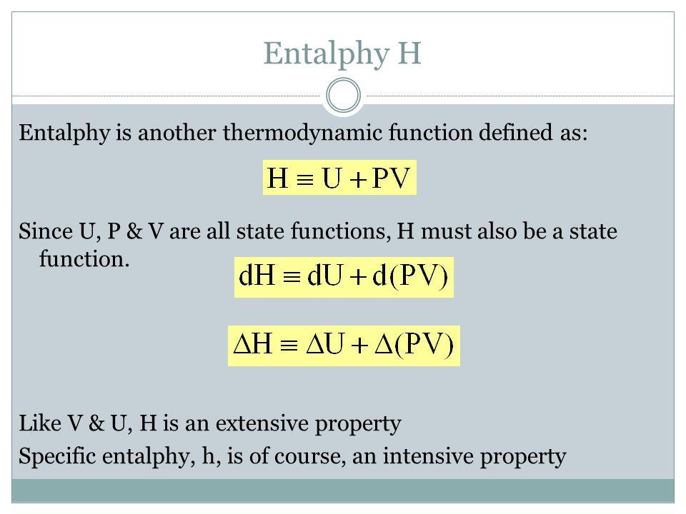Entalphy H