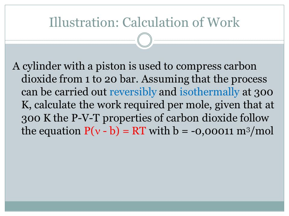 Illustration: Calculation of Work