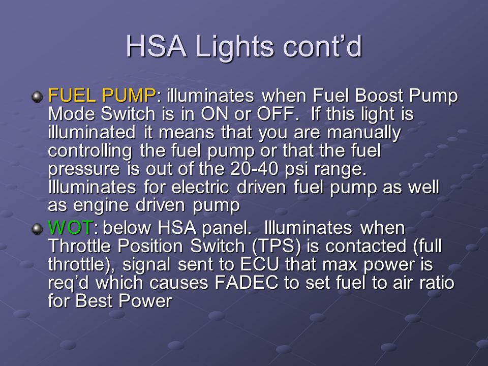 HSA Lights cont'd