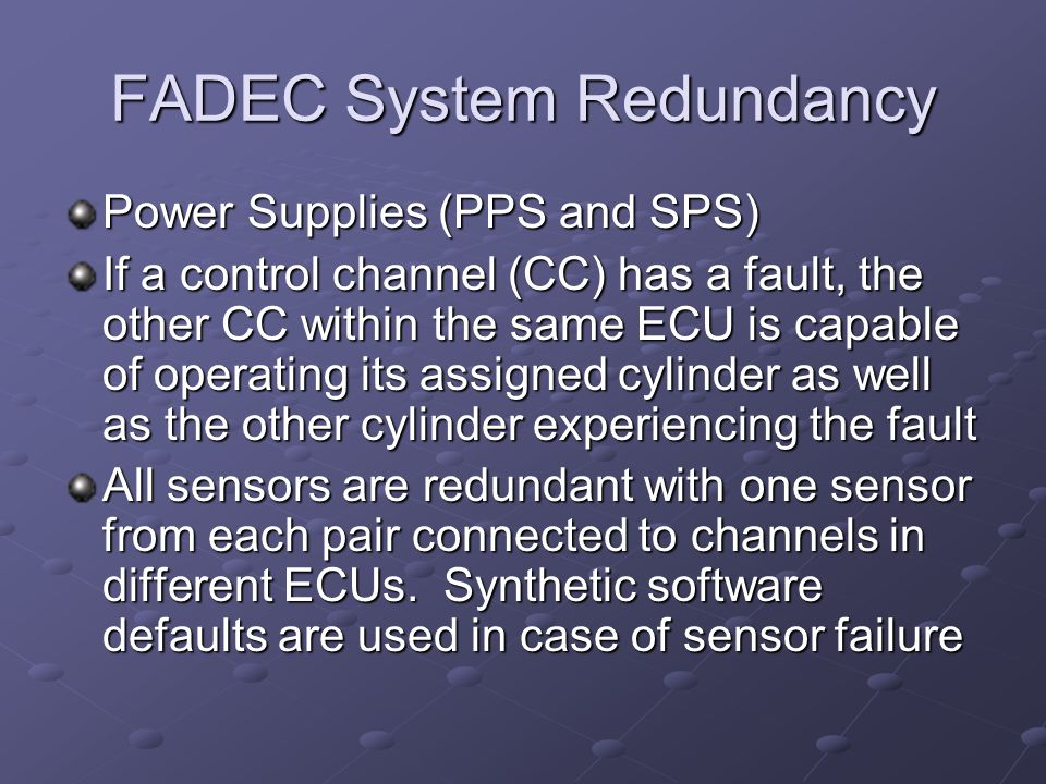FADEC System Redundancy