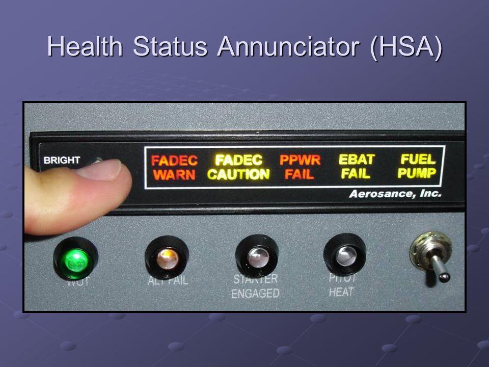 Health Status Annunciator (HSA)