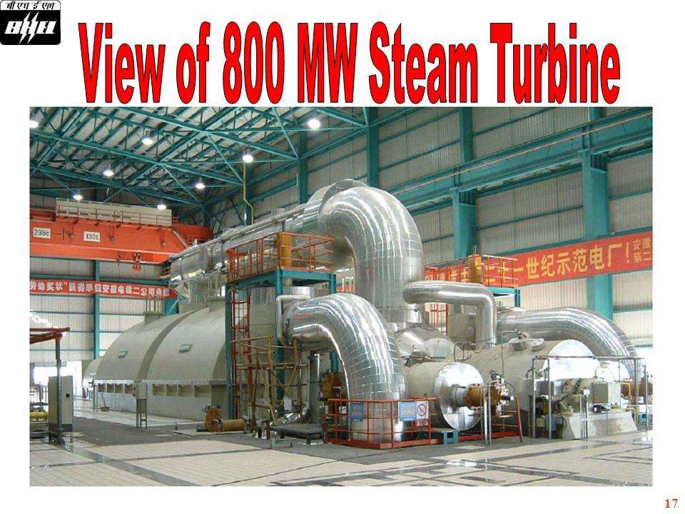 View of 800 MW Steam Turbine