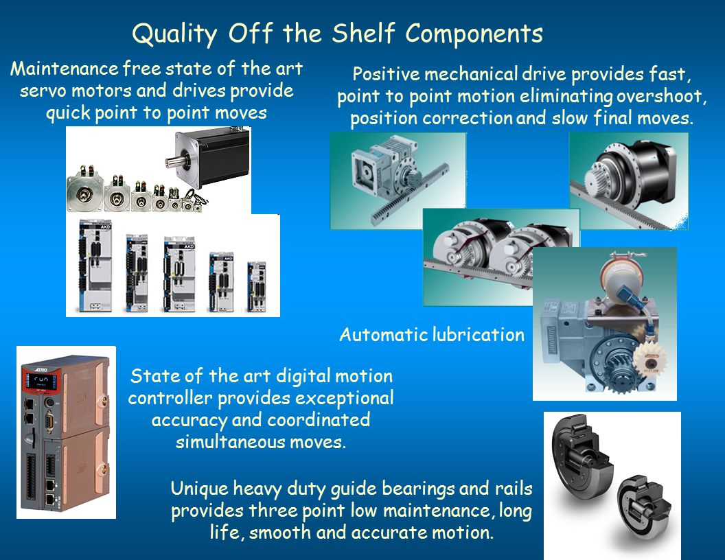 Quality Off the Shelf Components