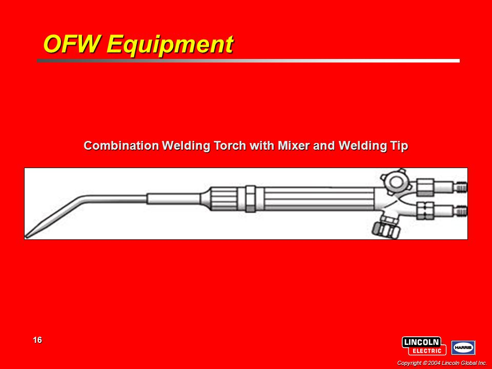 Combination Welding Torch with Mixer and Welding Tip