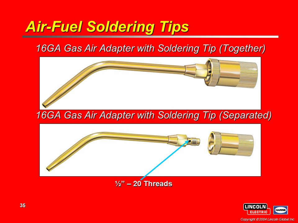 Air-Fuel Soldering Tips