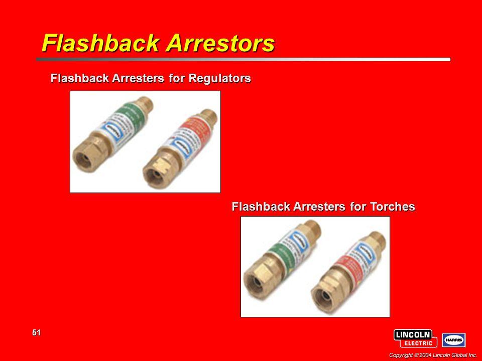 Flashback Arresters for Regulators Flashback Arresters for Torches