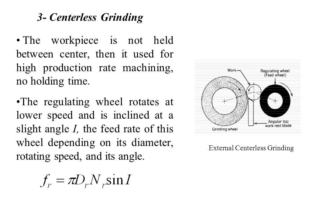 External Centerless Grinding