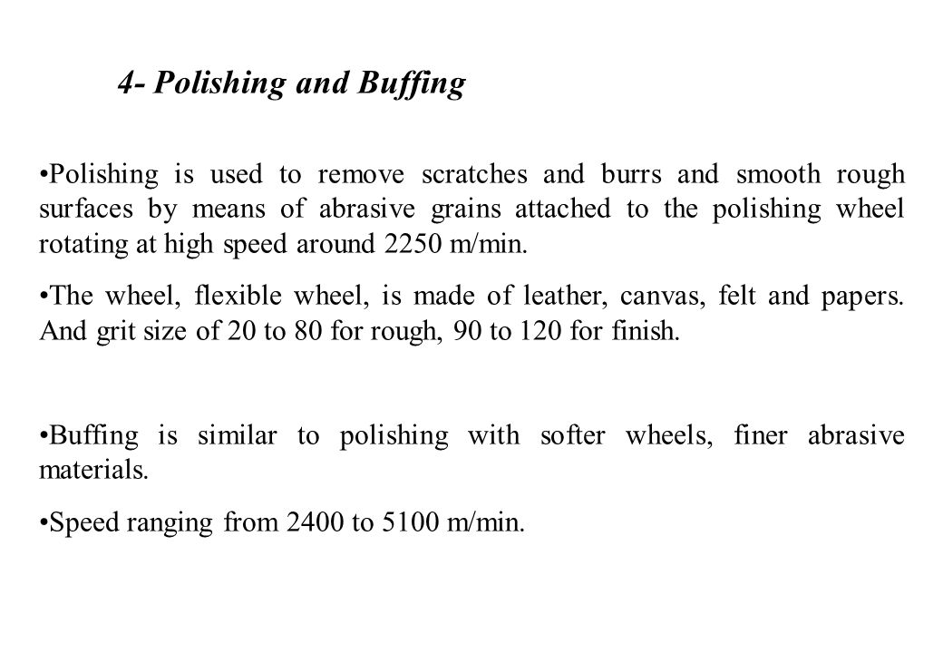 4- Polishing and Buffing