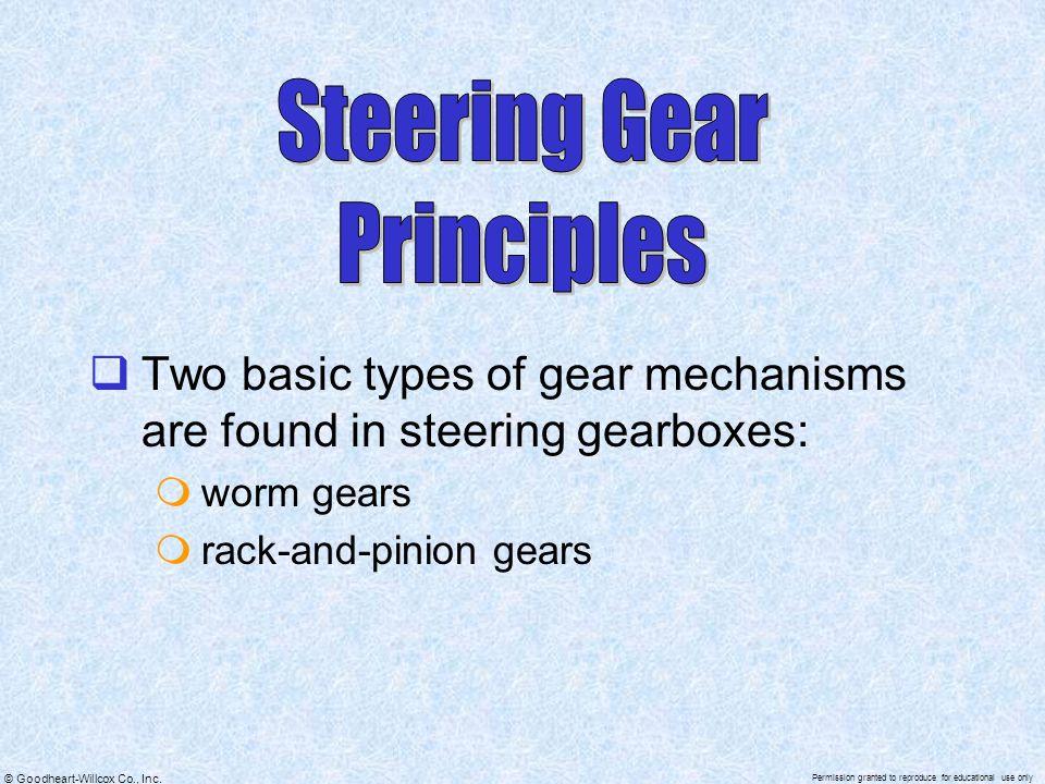 Steering Gear Principles