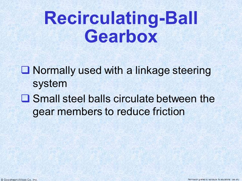 Recirculating-Ball Gearbox