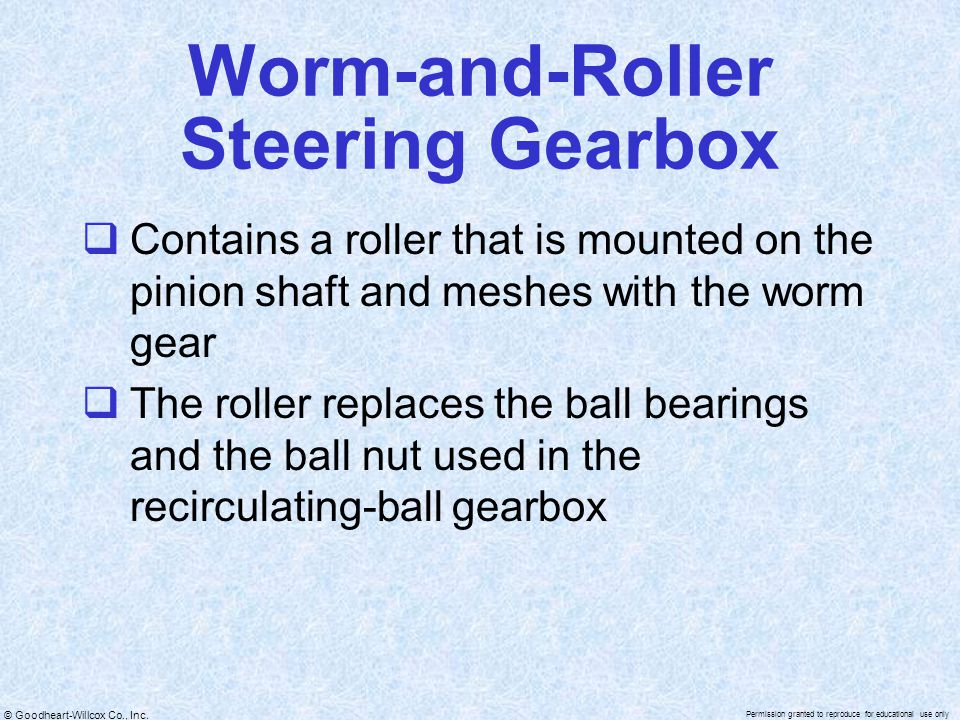 Worm-and-Roller Steering Gearbox