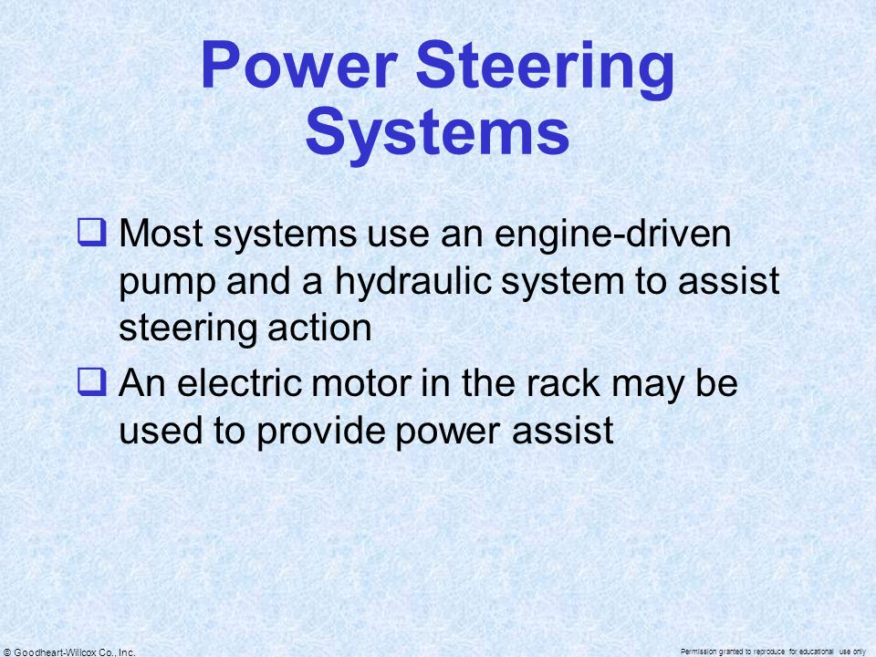 Power Steering Systems