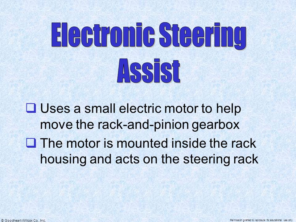 Electronic Steering Assist