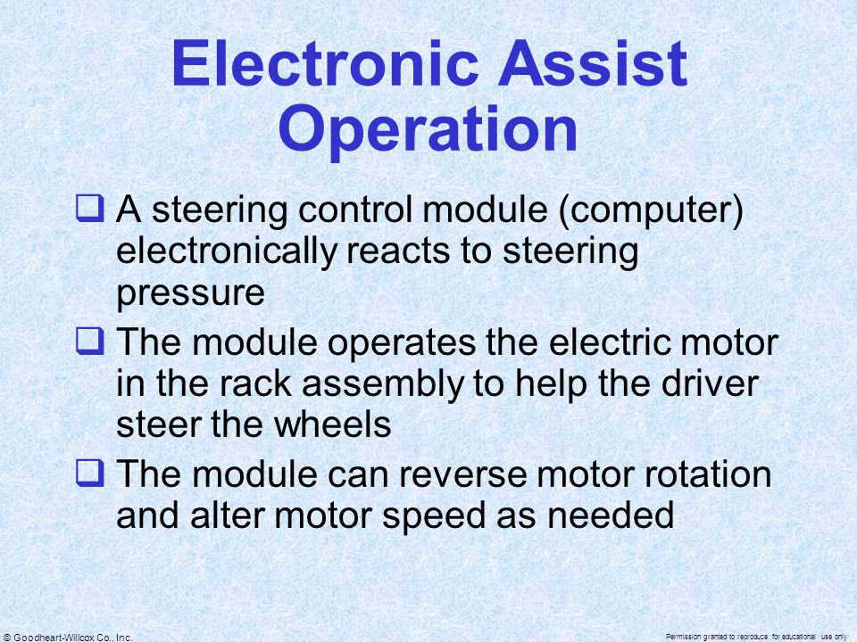 Electronic Assist Operation