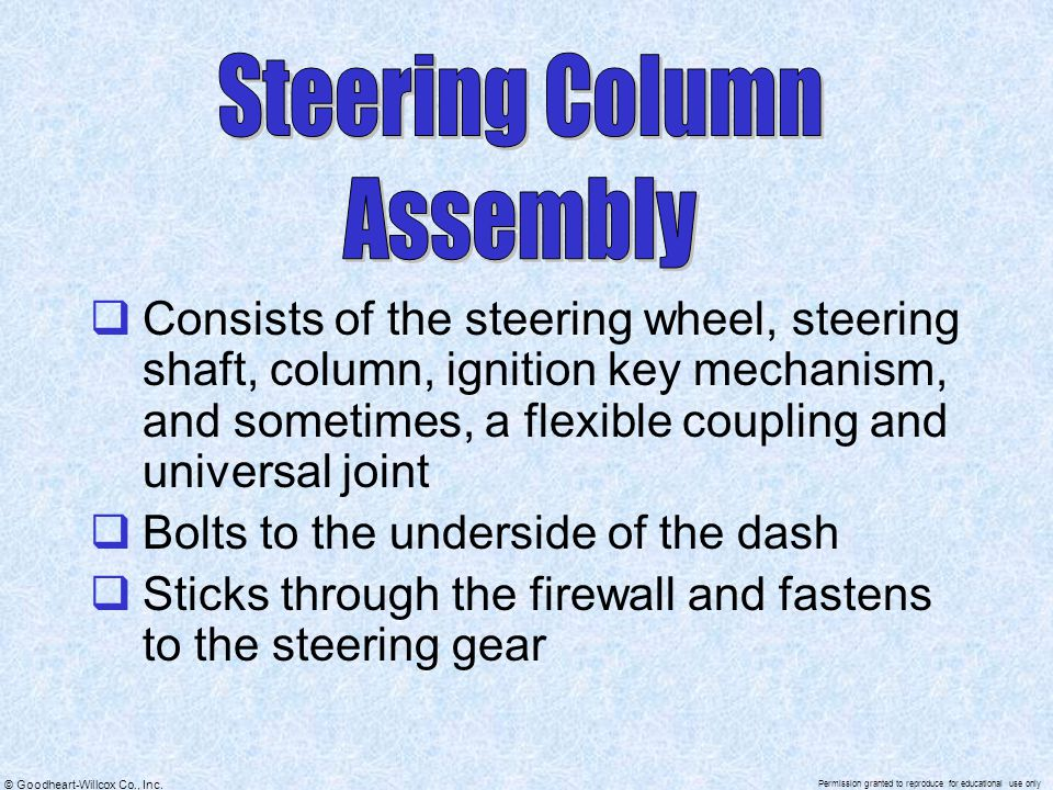Steering Column Assembly