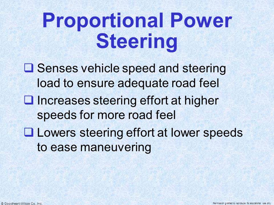 Proportional Power Steering