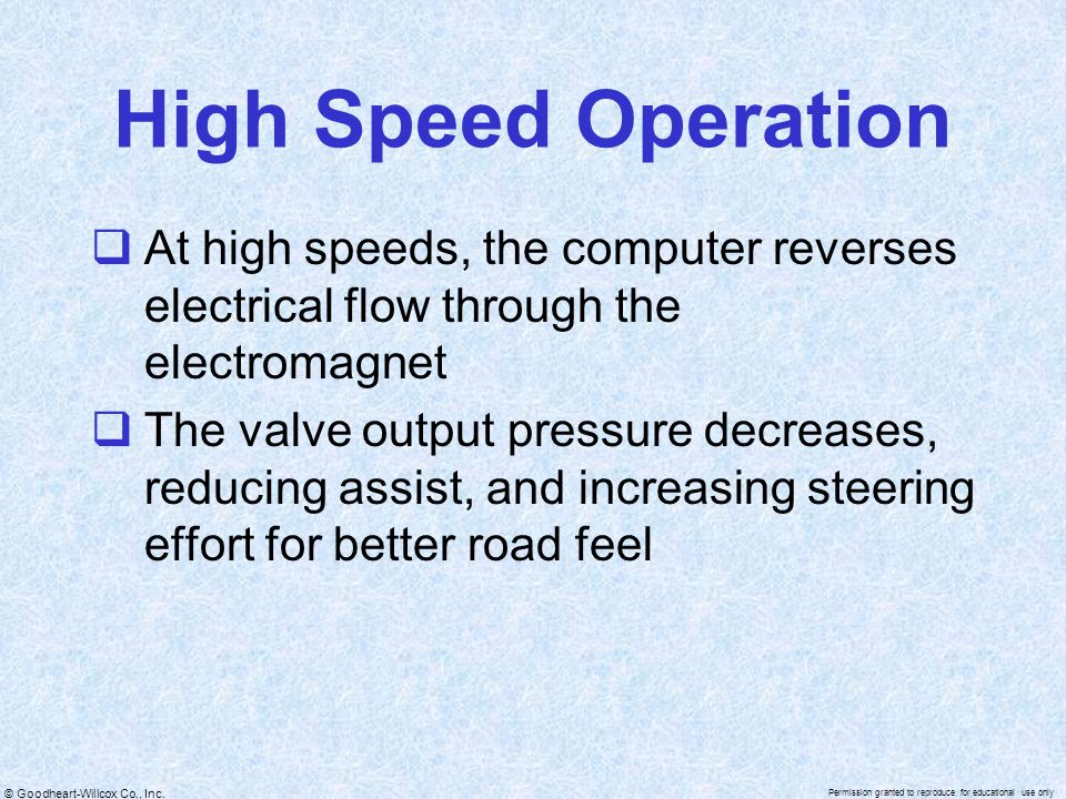 High Speed Operation At high speeds, the computer reverses electrical flow through the electromagnet.