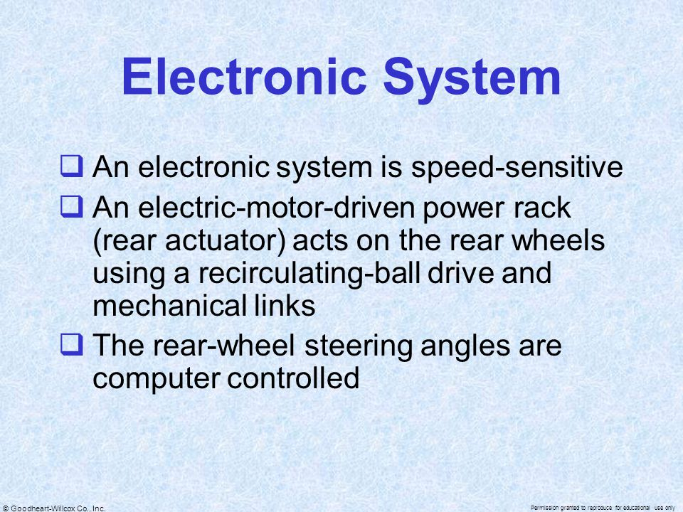 Electronic System An electronic system is speed-sensitive