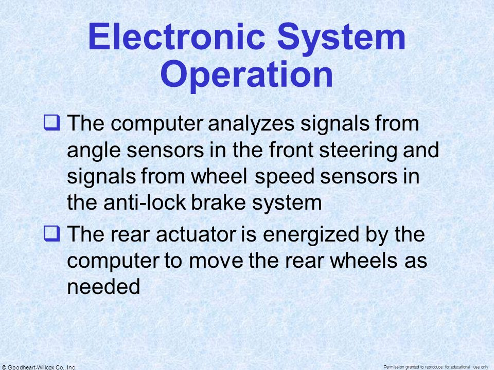 Electronic System Operation