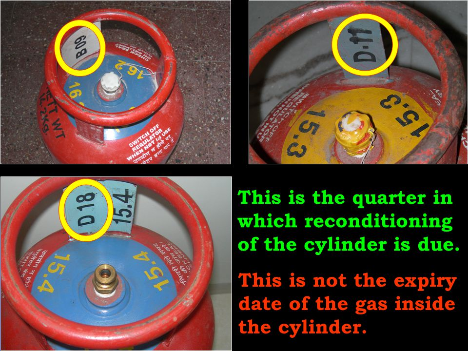 This is the quarter in which reconditioning of the cylinder is due.