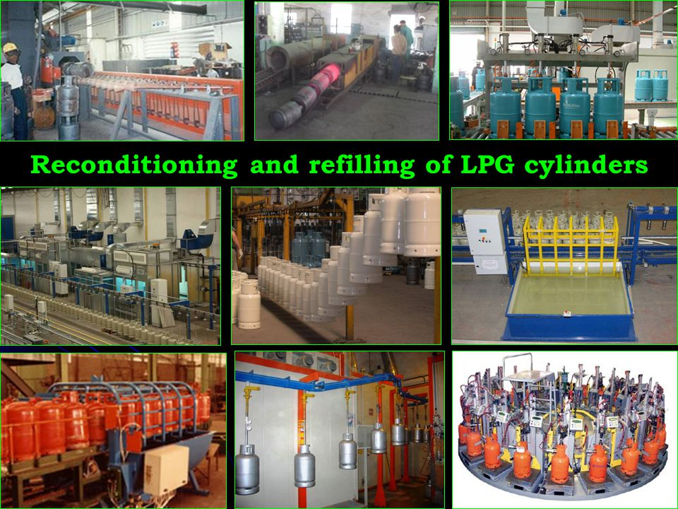 Reconditioning and refilling of LPG cylinders