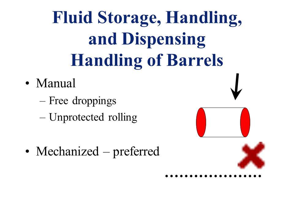 Fluid Storage, Handling, and Dispensing Handling of Barrels