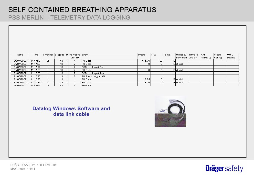 Datalog Windows Software and data link cable