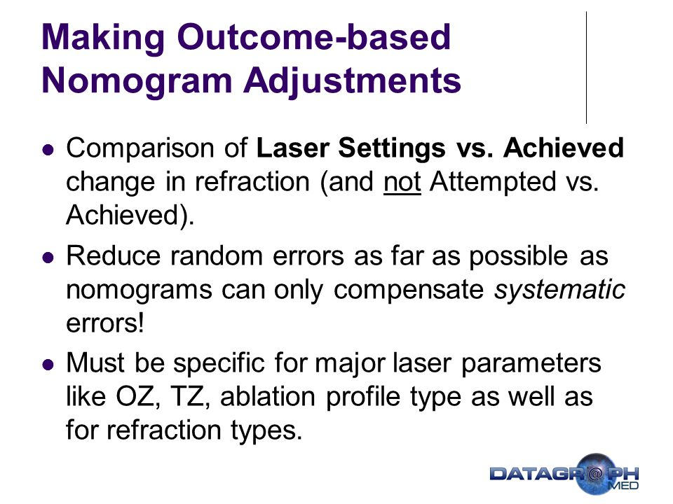 Making Outcome-based Nomogram Adjustments