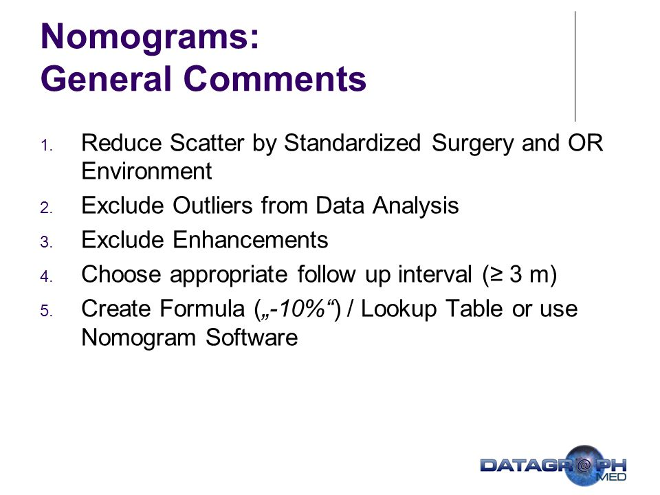 Nomograms: General Comments