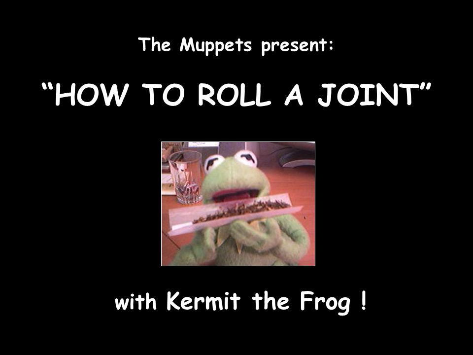 The Muppets present: HOW TO ROLL A JOINT