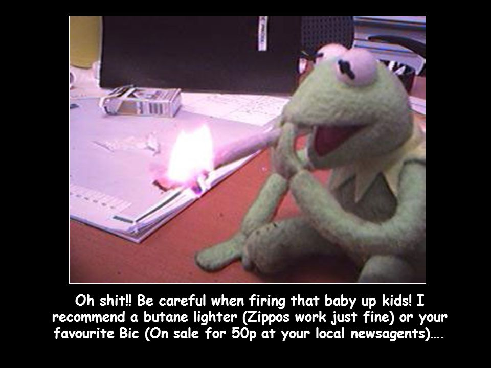 Oh shit. Be careful when firing that baby up kids