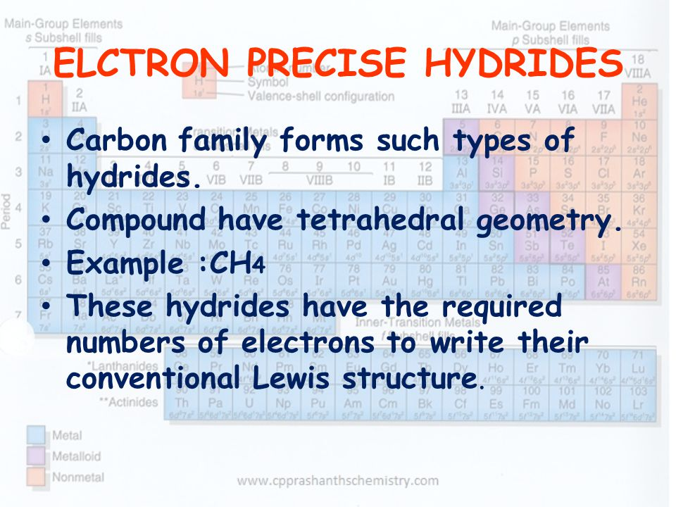 ELCTRON PRECISE HYDRIDES
