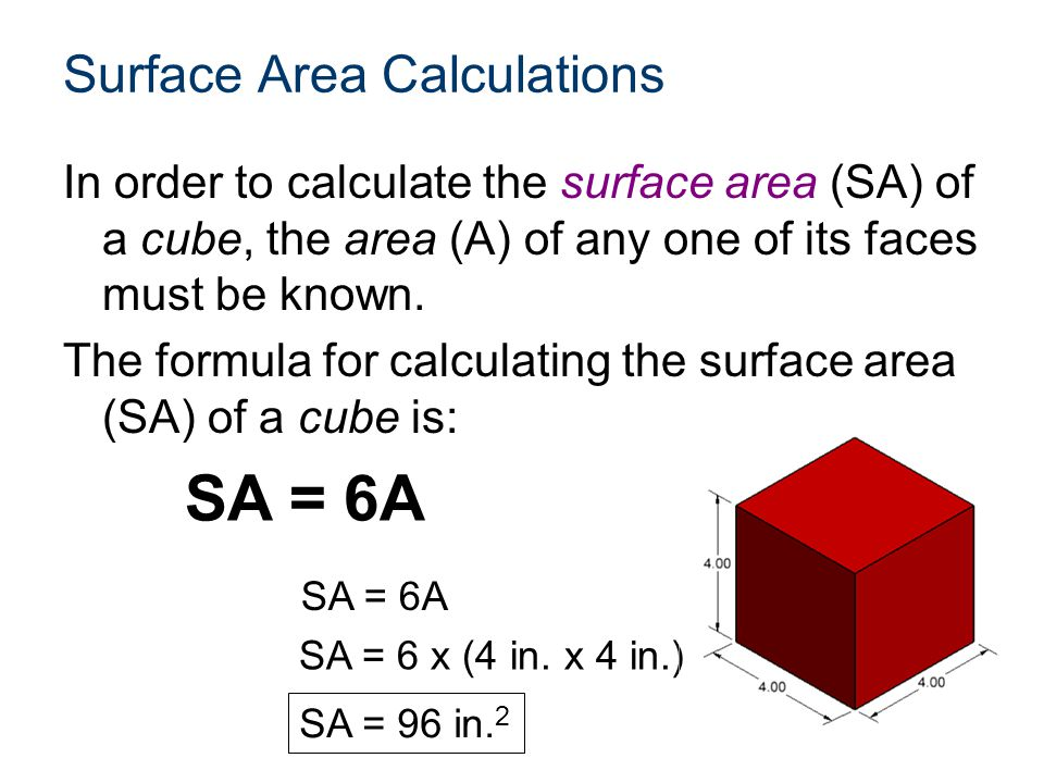 Surface Area Calculations