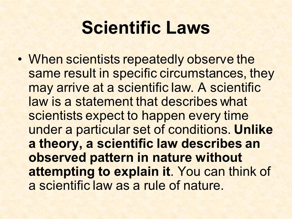 Scientific Laws