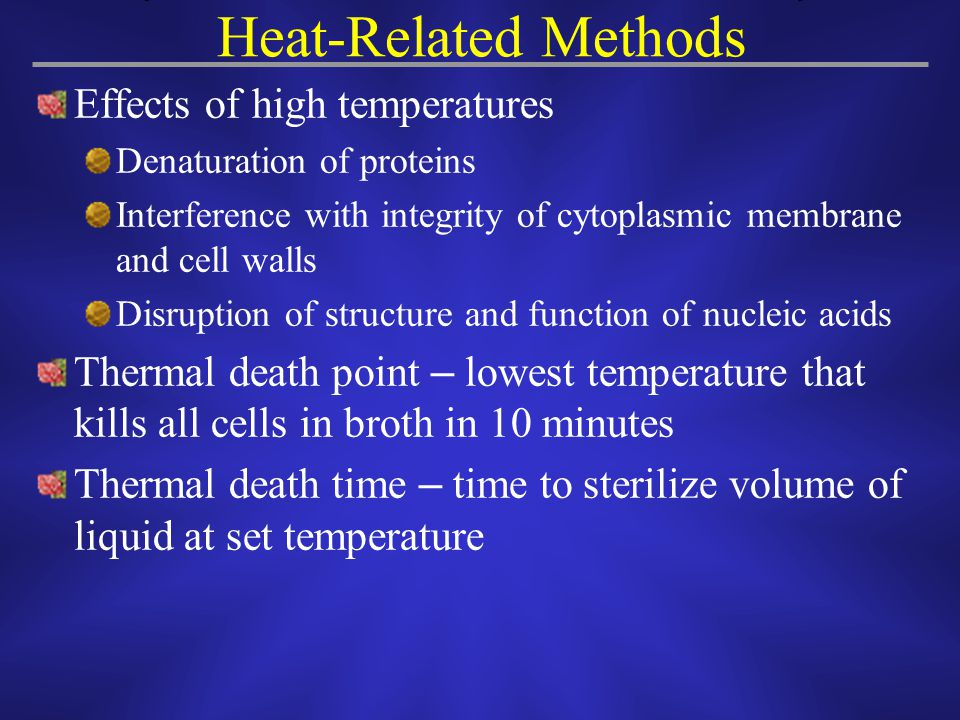 Heat-Related Methods Effects of high temperatures