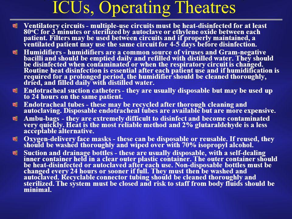 ICUs, Operating Theatres