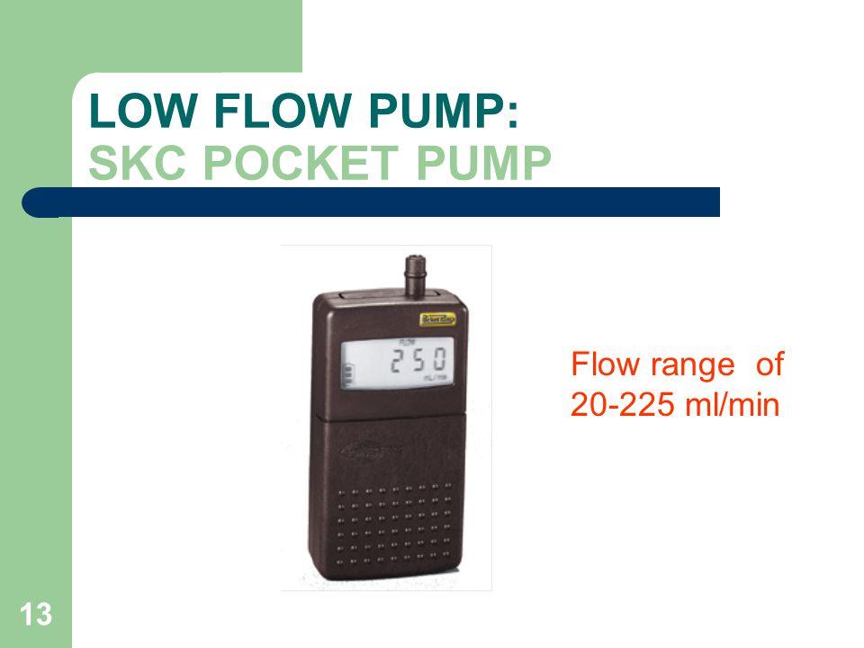 LOW FLOW PUMP: SKC POCKET PUMP