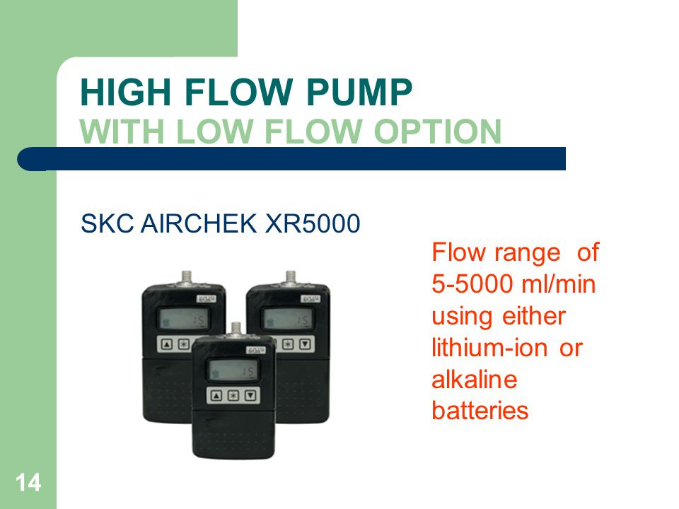 HIGH FLOW PUMP WITH LOW FLOW OPTION
