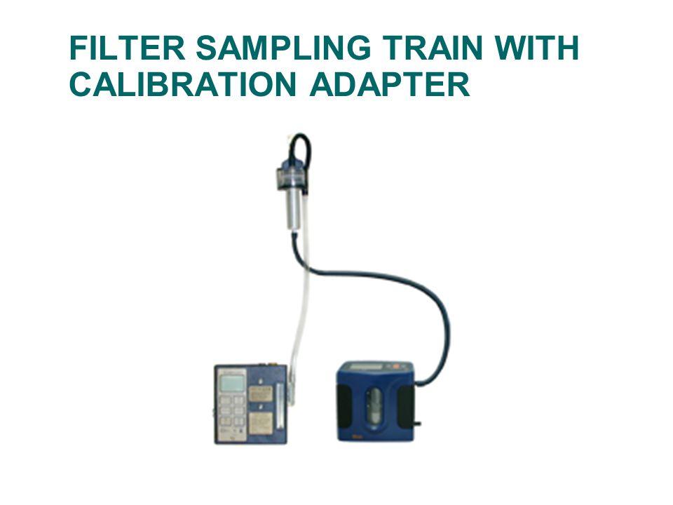 FILTER SAMPLING TRAIN WITH CALIBRATION ADAPTER