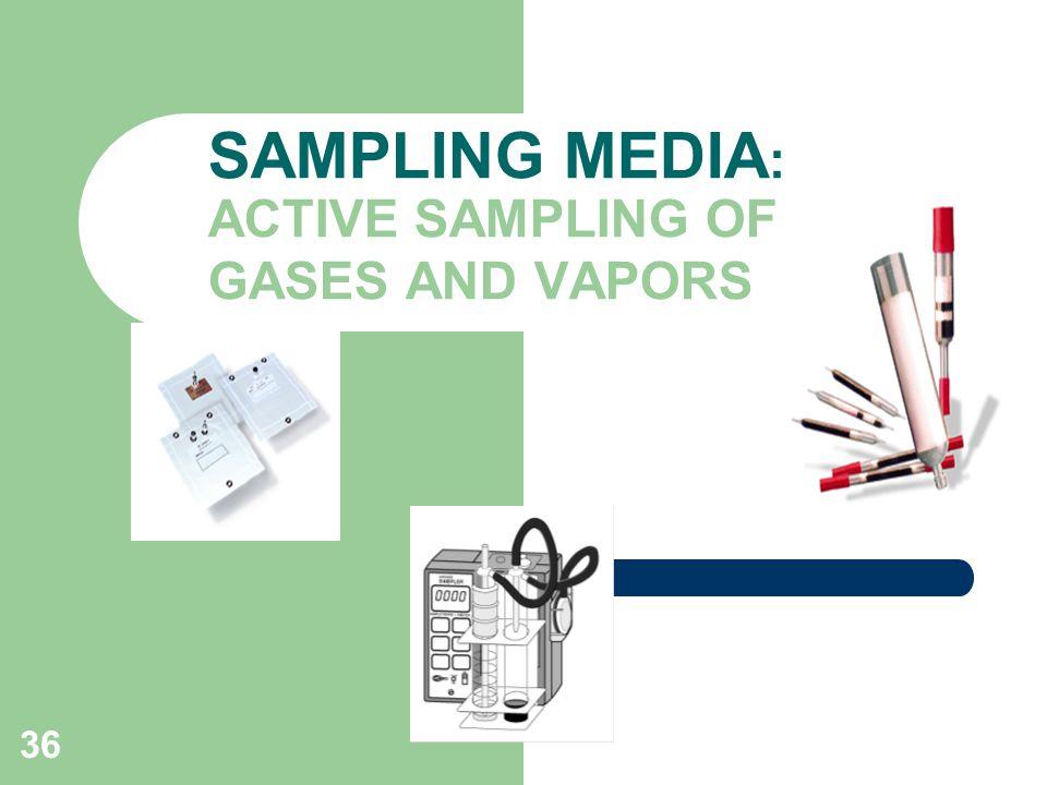 SAMPLING MEDIA: ACTIVE SAMPLING OF GASES AND VAPORS