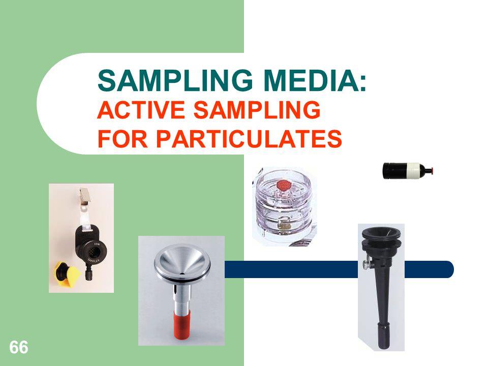 SAMPLING MEDIA: ACTIVE SAMPLING FOR PARTICULATES