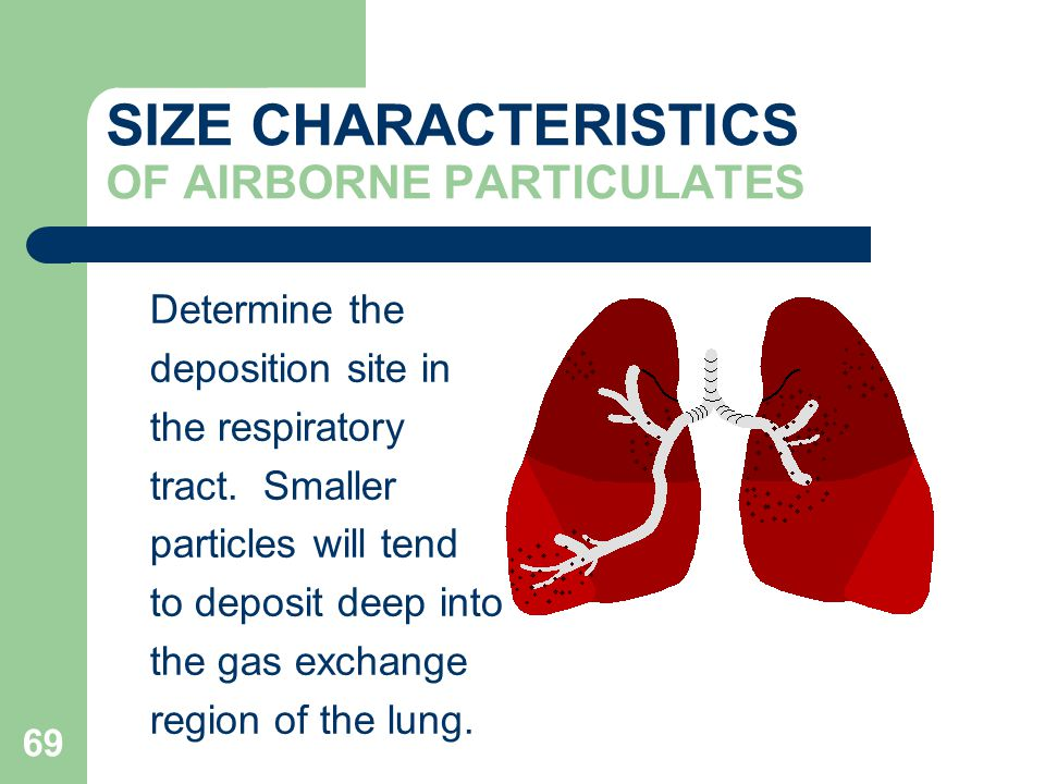 SIZE CHARACTERISTICS OF AIRBORNE PARTICULATES