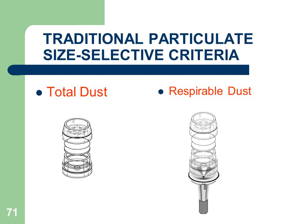 TRADITIONAL PARTICULATE SIZE-SELECTIVE CRITERIA