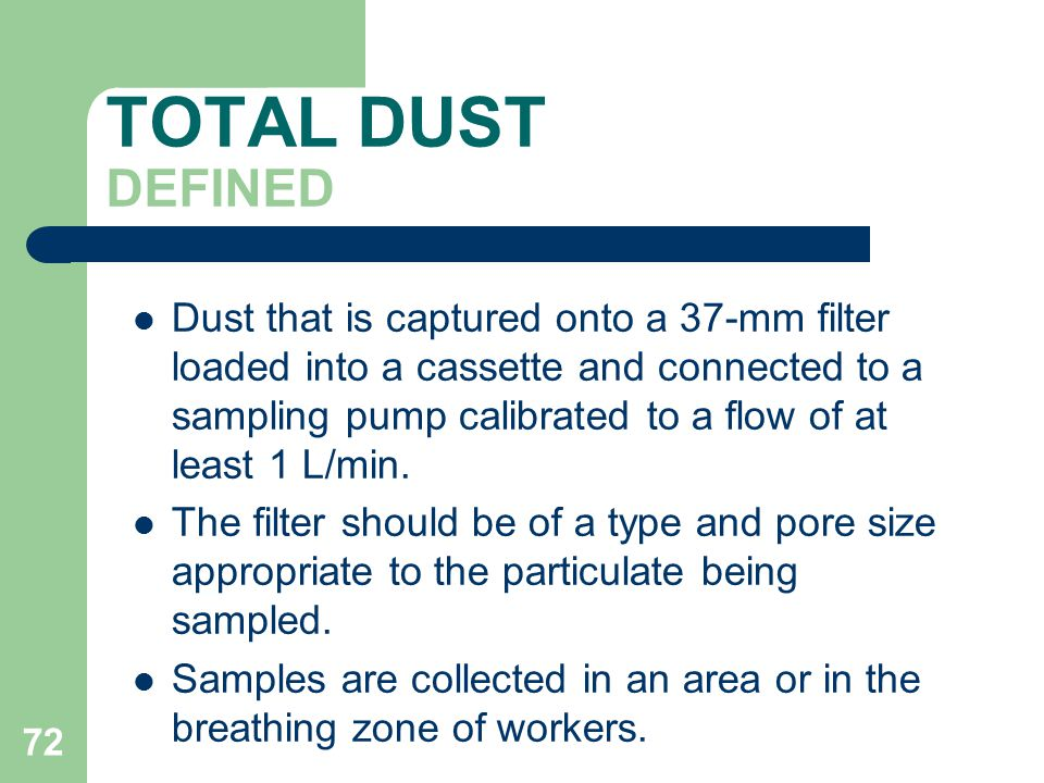 TOTAL DUST DEFINED