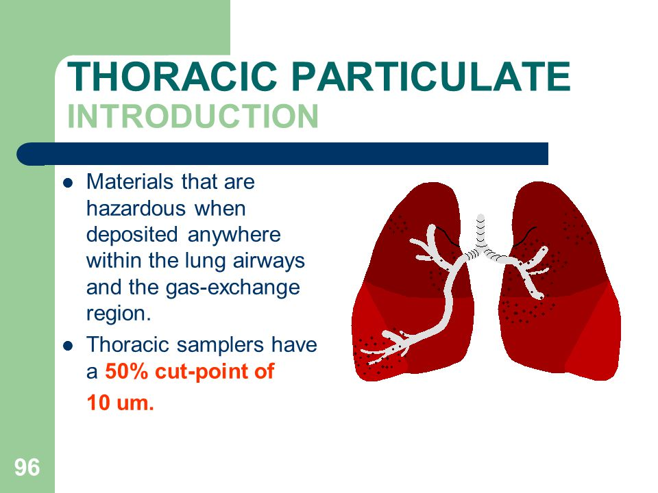 THORACIC PARTICULATE INTRODUCTION
