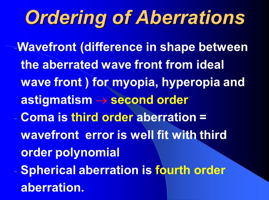 Ordering of Aberrations
