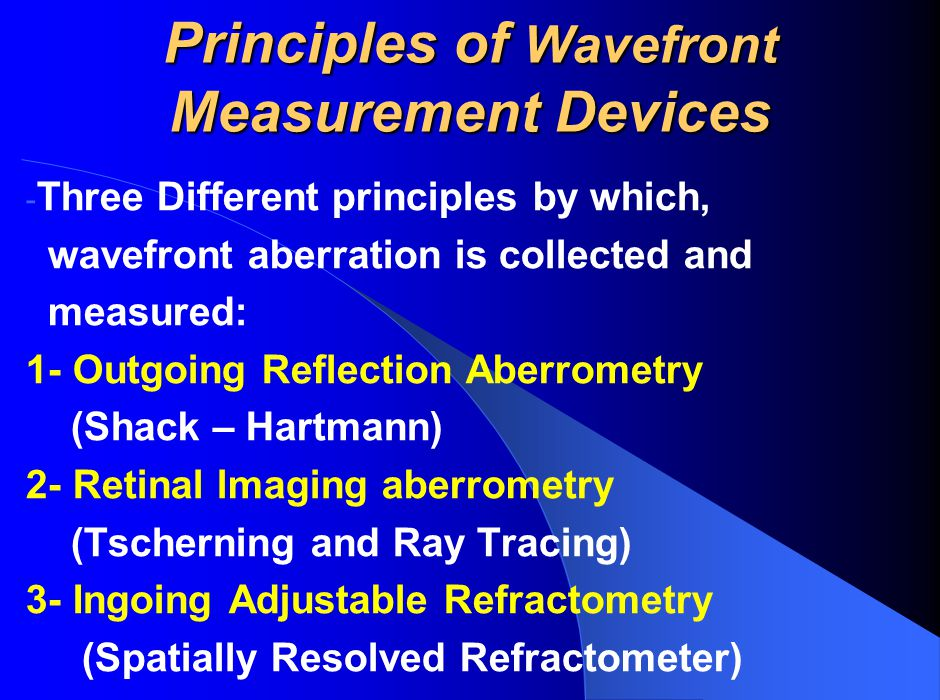 Principles of Wavefront Measurement Devices